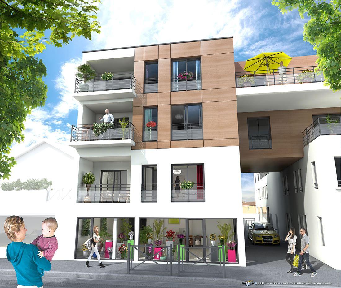Programme immobilier à Andernos-les-Bains T2 et T3