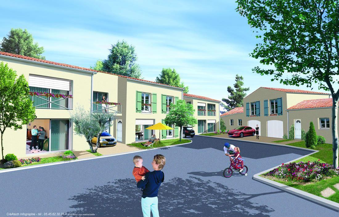 Maisons de centre-ville T3 avec garage et parking à Ruffec, Charente - Nouvelle Aquitaine